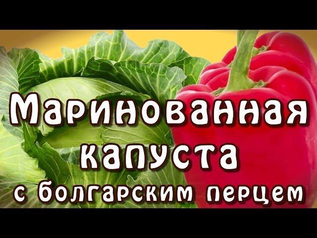 Рецепт маринованная капуста с болгарским перцем
